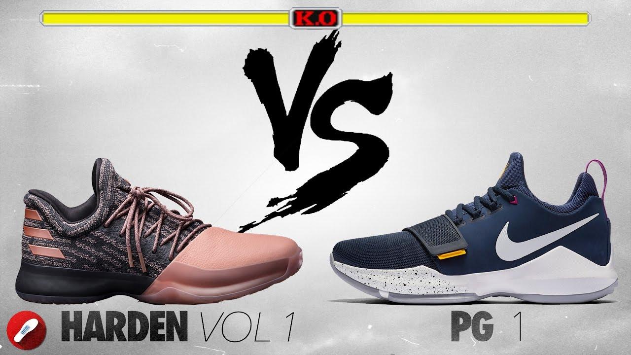 Adidas Harden Vol 1 Vs Nike Pg 1 Youtube