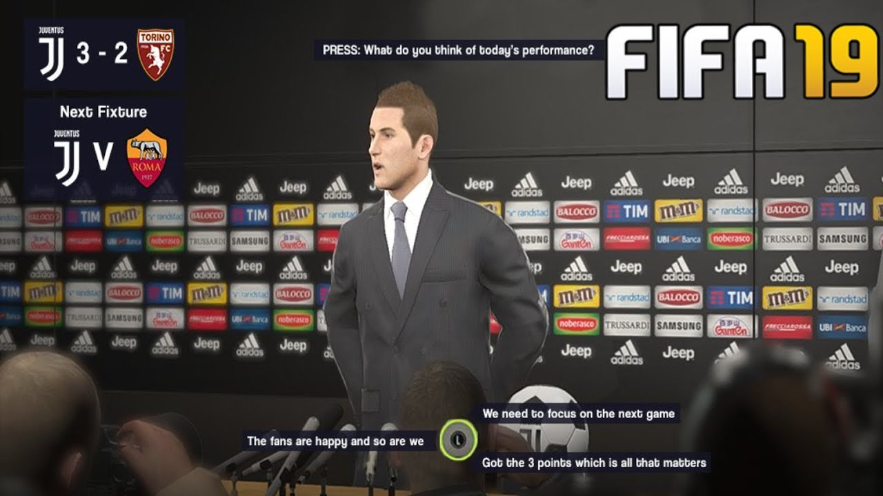 c271f223b10374 Press Conferences   Customise Manager (FIFA 19 New Features)
