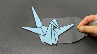 Paper Crane Origami Pancake Art