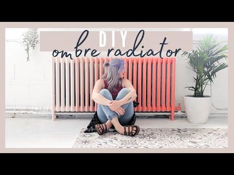 DIY OMBRE RADIATOR MAKEOVER | BIG TRANSFORMATION!