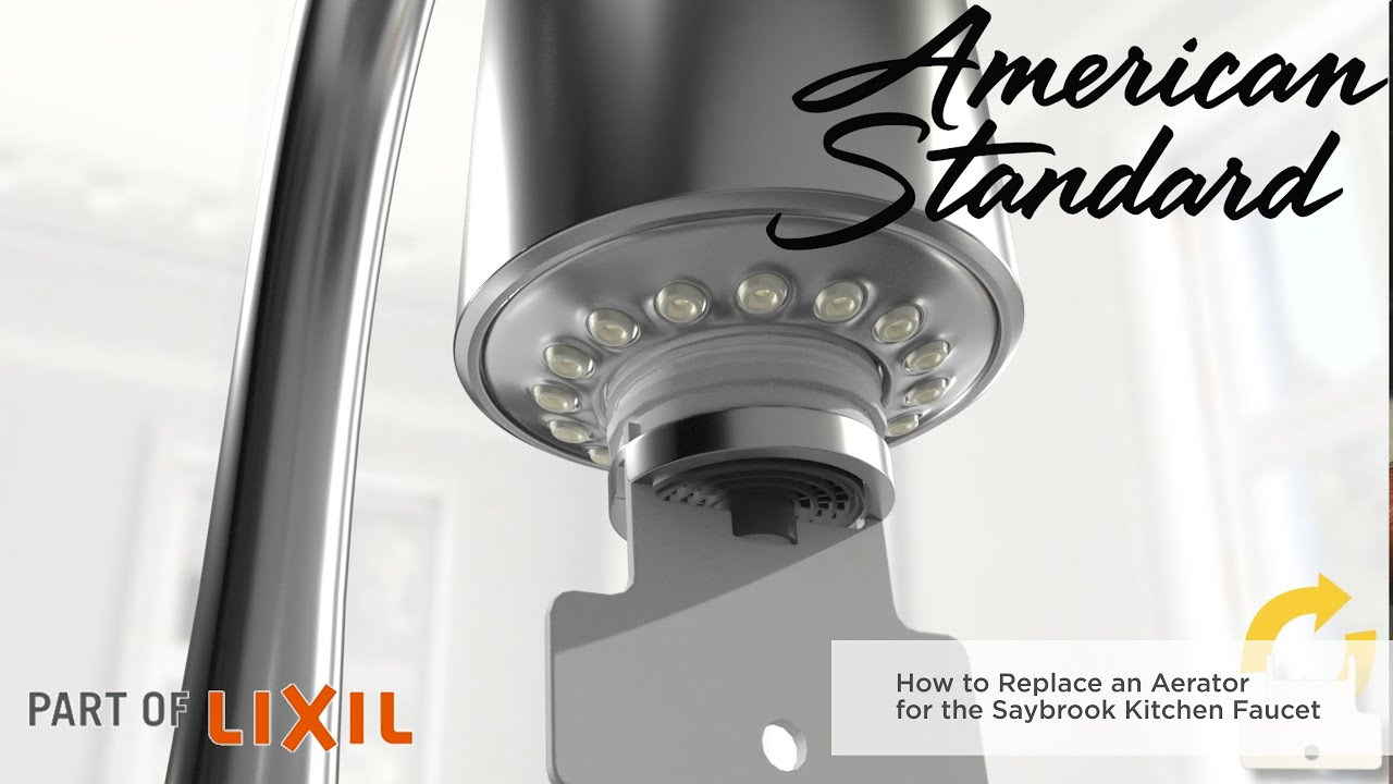 how to remove the aerator on the saybrook filtered water faucet by american standard