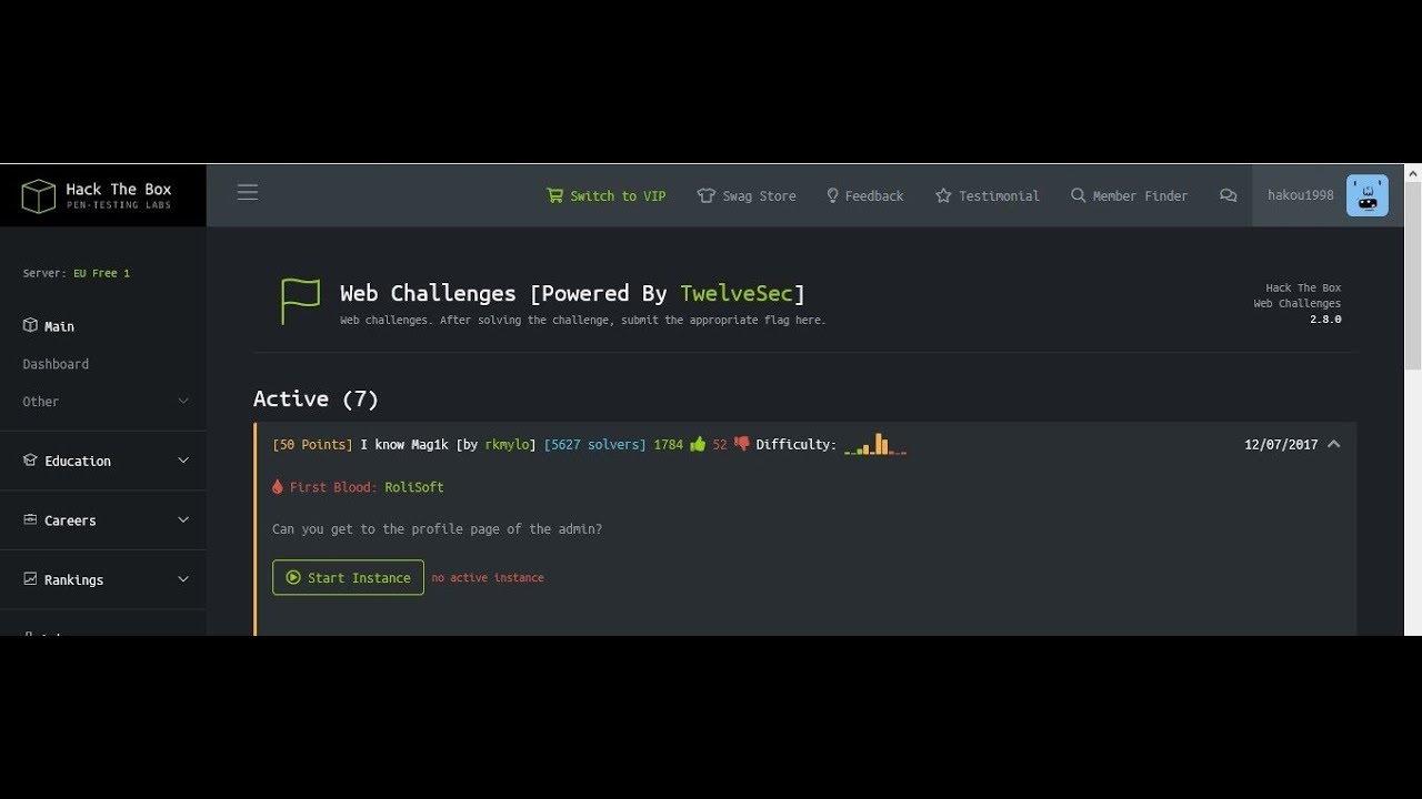 [hackthebox][web challenge] I know Mag1k
