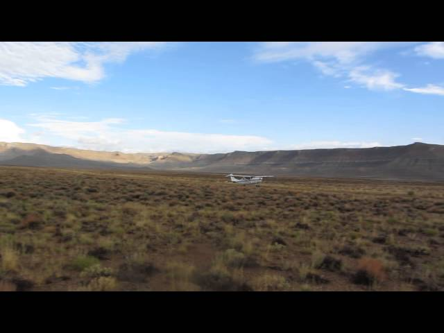 Taking off from Sand Wash airstrip