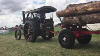 Wallis & Steevens Traction Engine Timber & Lancashire Boiler Haulage