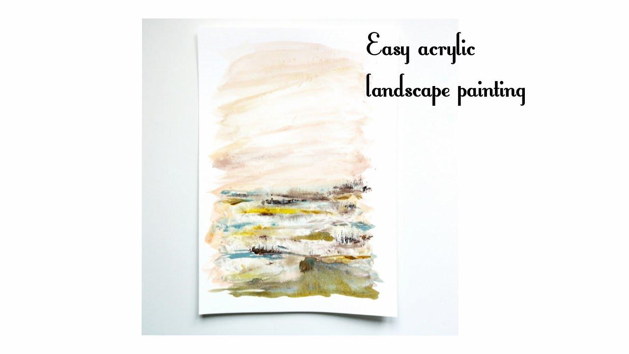 Landscape Art Short Demo Easy Landscape Painting
