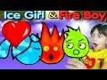 Приключения ОГОНЬ И ВОДА в ДЖУНГЛЯХ АМАЗОНКИ  Игра на троих  Видео для детей  Детский летсплей