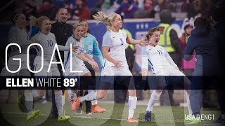 WNT vs. England: Ellen White Goal - Mar. 4, 2017
