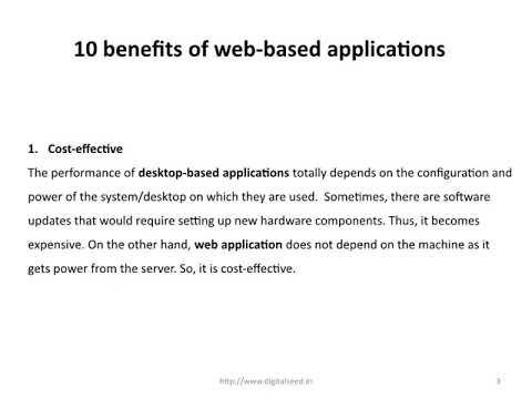 10 benefits of web-based applications- DigitalSeed| Digital Marketing Company  in pune