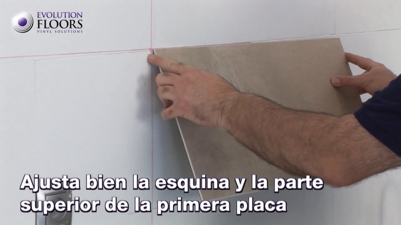 Cmo Instalar Losetas de Pared Paso a Paso  YouTube