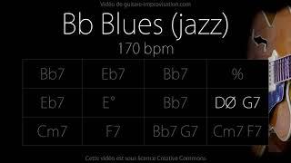 Bb Blues (Jazz/Swing feel) 170 bpm : Backing Track