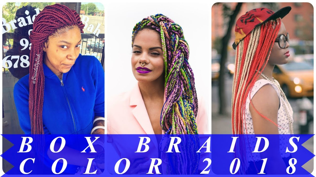 Top 20 Stunning Box Braids With Color In The Back 2018 Youtube