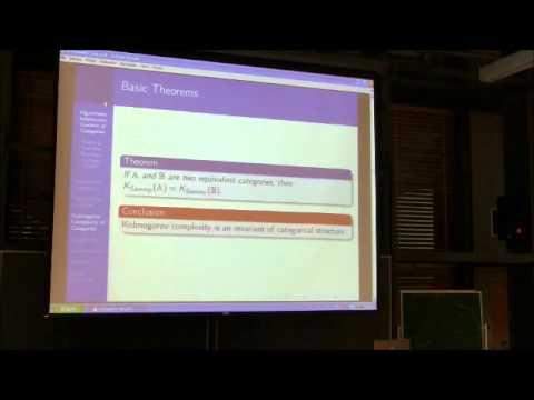 Algorithmic Information Content of Categories