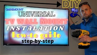 TV Wall Mount InstaĮlation Guide Complete DIY How-To Install OmniMount VESA Generic Onn