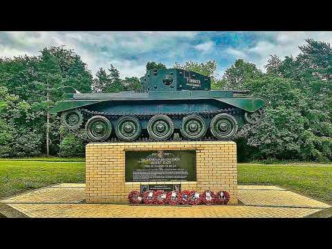 WW 2 Desert Rats Tank,  thetford norfolk 7th Armoured Division uk