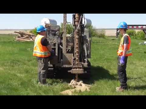 Remote Controlled Micro Drill drilling through bedrock shale