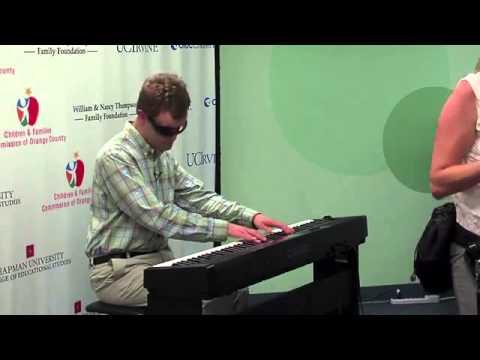 Derek Paravicini performance at The Center for Autism