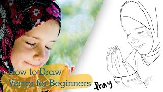 PaintTool SAI Tutorial: How to Draw Easy Vector for Beginners [Pray]