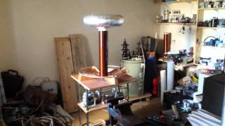 My big Tesla Coil, test run