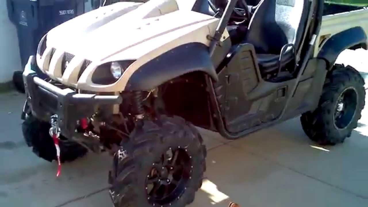 rhino yamaha lift kit tires sti mud trax