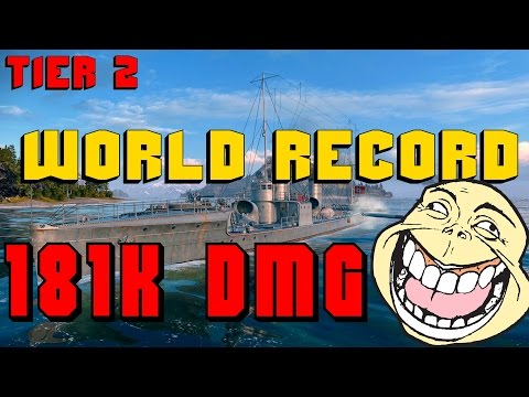 New world record - V-25 -  181k DMG || World of Warships