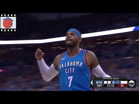 Knicks Film Study: Kristaps Porzingis defense on Carmelo Anthony
