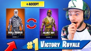 1v1 for our *RAREST* SKINS in Fortnite: Battle Royale!