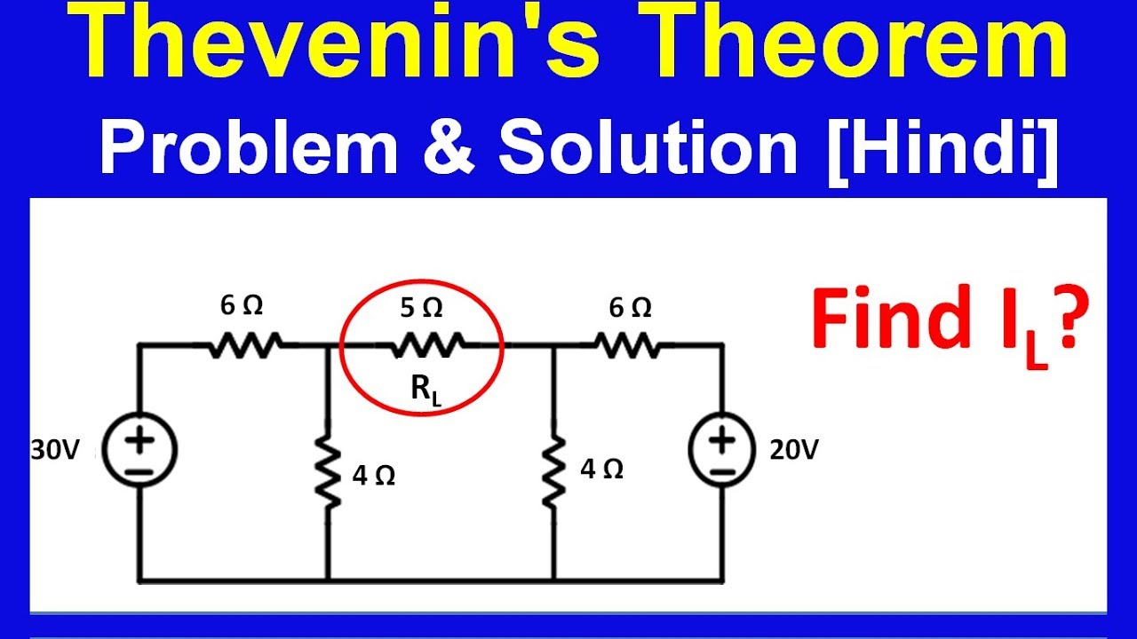 Thevenin Theorem With Example In Hindi Youtube
