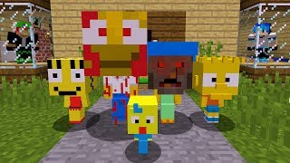 CUIDADOO COM FAMÍLIA OS SIMPSONSS DO MALL NO MINECRAFT
