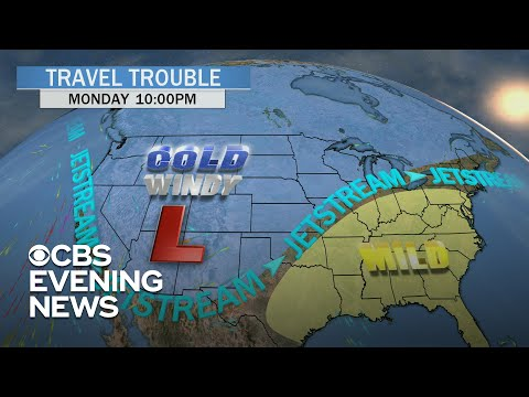 How will the East Coast storms affect holiday travel?