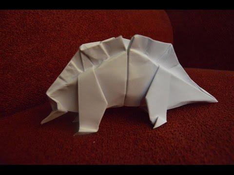 Origami Stegosaurs