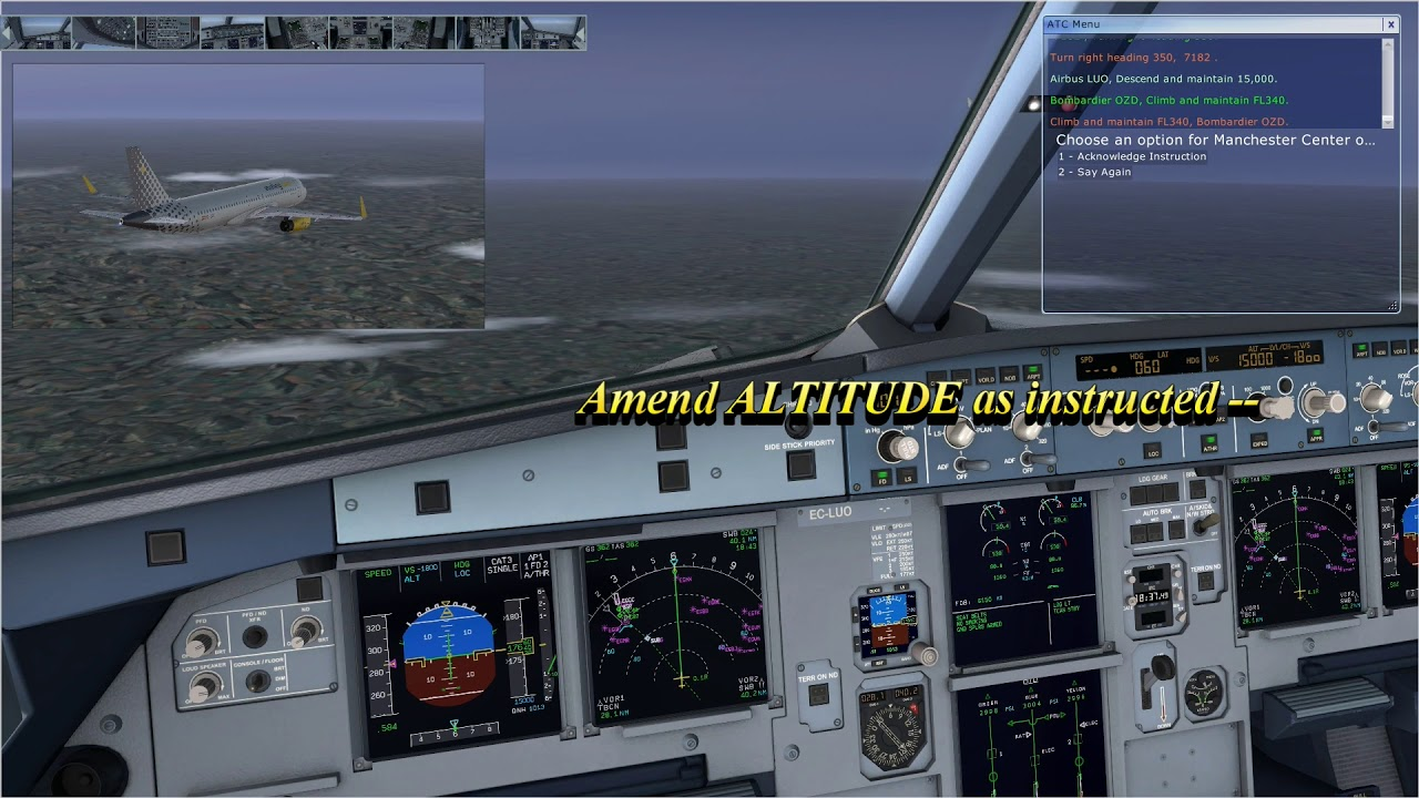 Combining FSX ATC with A320 MCDU Flight Plan