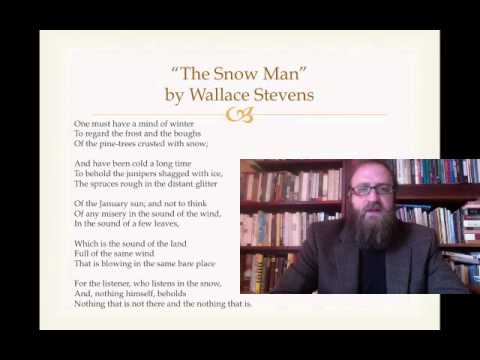 the snow man by wallace stevens