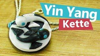 DIY Anhänger Kette im coolen Yin Yang Stil | Schmuck zum selber machen | DIY Clay Ideen