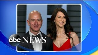 Michael Strahan and Sara Haines break down the latest on Jeff Bezos' divorce