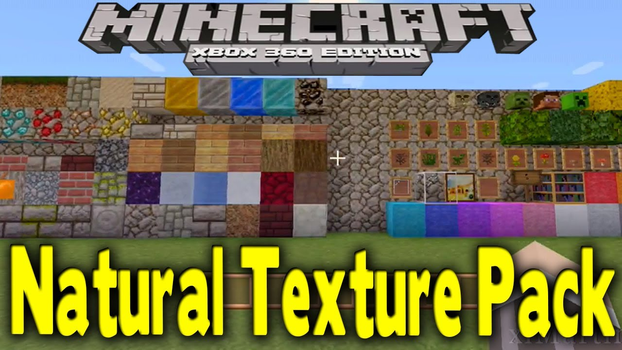 Minecraft xbox 360 early natural texture pack gameplay showcase all