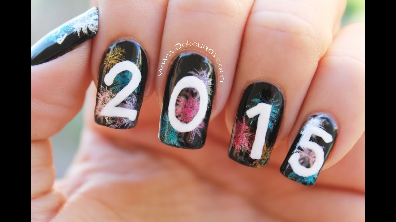 Decoracion de u as para fin de a o 2015 new year nail - Decoracion de unas ...