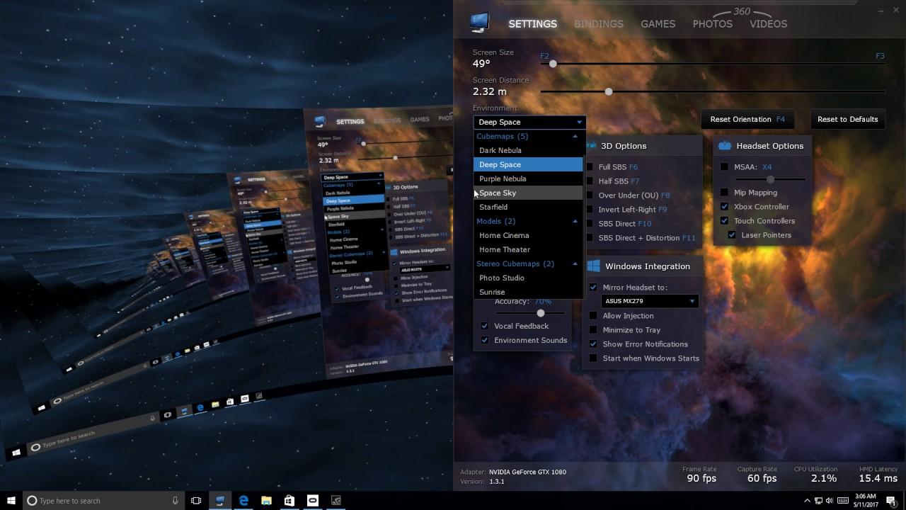 Virtual Desktop Oculus Rift PC