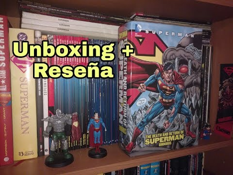 """Unboxing + Reseña: Omnibus """"Death and Return of Superman""""."""