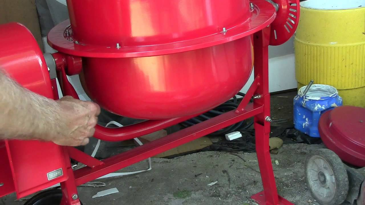 Cement mixer #2 Harbor freight assembly