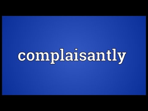 Header of complaisantly