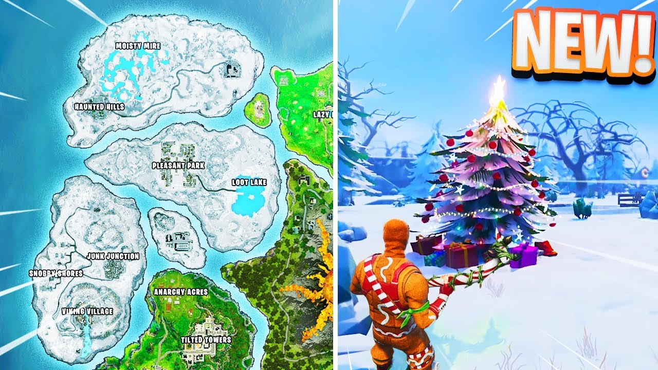 New Christmas Snow Map In Fortnite Youtube