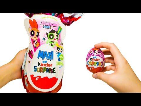 МАКСИ Суперкрошки vs Суперкрошки Киндер Сюрприз Большие и Маленькие Игрушки из Мультфильма