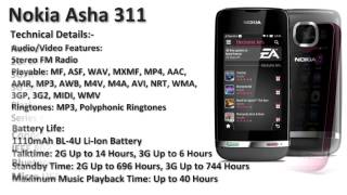 Nokia Asha 311 Mobile Price and Specifications