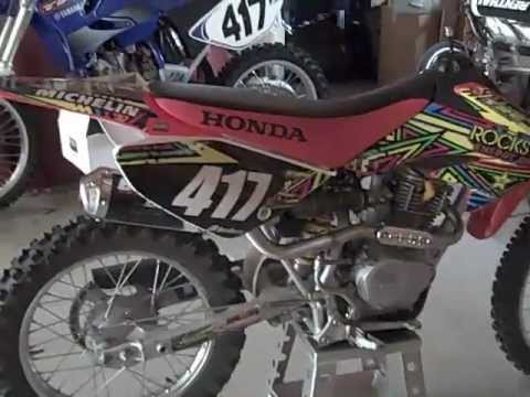 honda crf 100 walk around/start up!