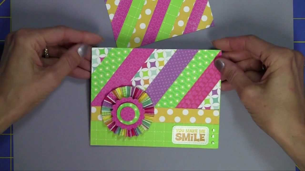 using paper scraps to make card backgrounds  youtube