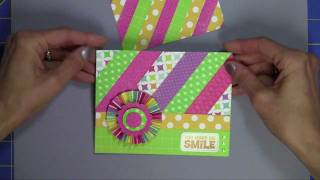 Using Paper Scraps to Make Card Backgrounds