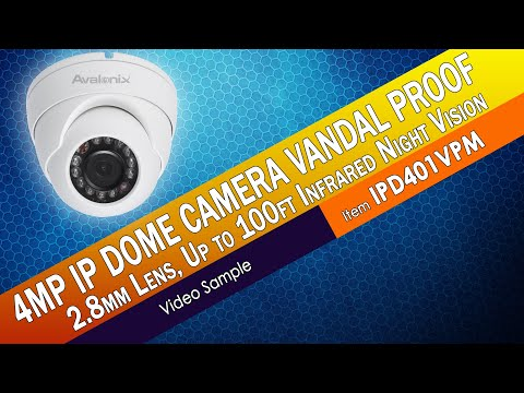 Vandal Proof Dome 4MP IP Camera IPD401VPM