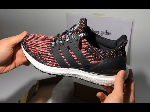 UA Adidas Ultra Boost 3 0 Pink Black Sneaker Shoes Unboxing Review ... e75b57cf1