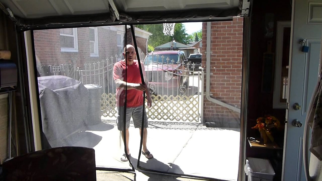 garage door screensTim 9x7 garage door screen  YouTube