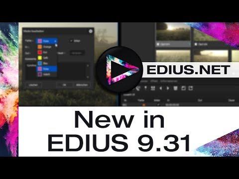 EDIUS.NET Podcast - New in EDIUS 9.31